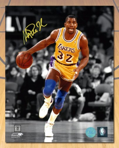 8b7aa43d5 Magic Johnson Los Angeles Lakers Autographed Signed Spotlight 8x10 Photo -  Certified Authentic