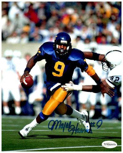 Major Harris Autographed Signed Memorabilia Running in Blue 8x10 Photo - Certified Authentic