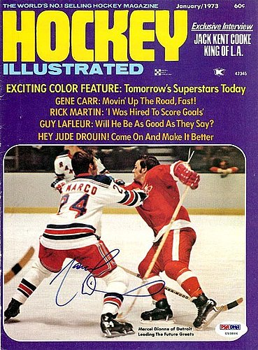Marcel Dionne Autographed Signed Magazine Cover Red Wings - PSA/DNA Certified