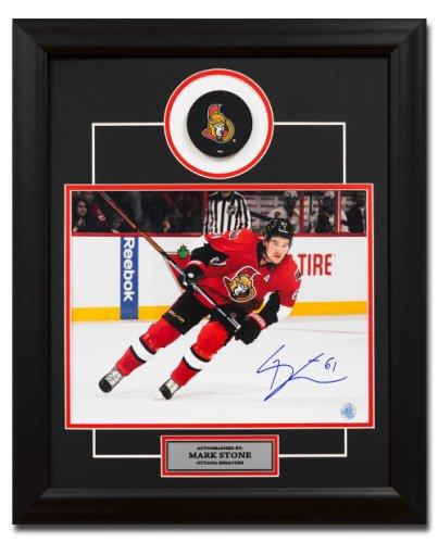 Mark Stone Ottawa Senators Autographed Signed Hockey 23x19 Puck Frame