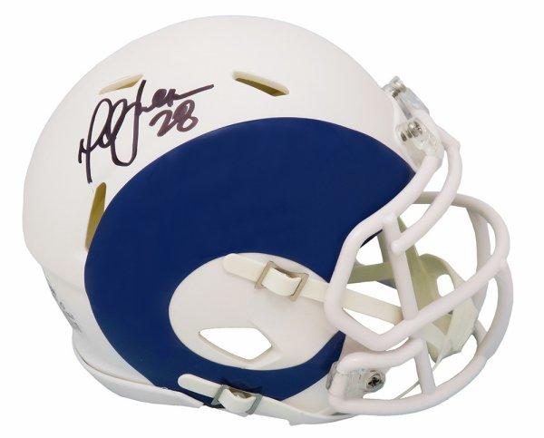 Marshall Faulk Autographed Signed Rams AMP Alternate Series Riddell Speed Mini Helmet (Beckett)