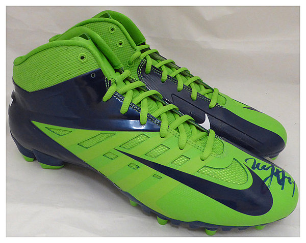 Marshawn Lynch Autographed Signed Nike Cleats Shoes Seattle Seahawks ML Holo Stock #131209 - Certified Authentic