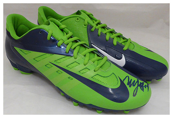 Marshawn Lynch Autographed Signed Nike Cleats Shoes Seattle Seahawks ML Holo Stock #131210 - Certified Authentic