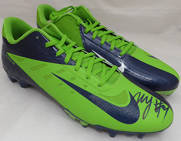 Marshawn Lynch Autographed Signed Nike Cleats Shoes Seattle Seahawks ML Holo Stock #131212 - Certified Authentic