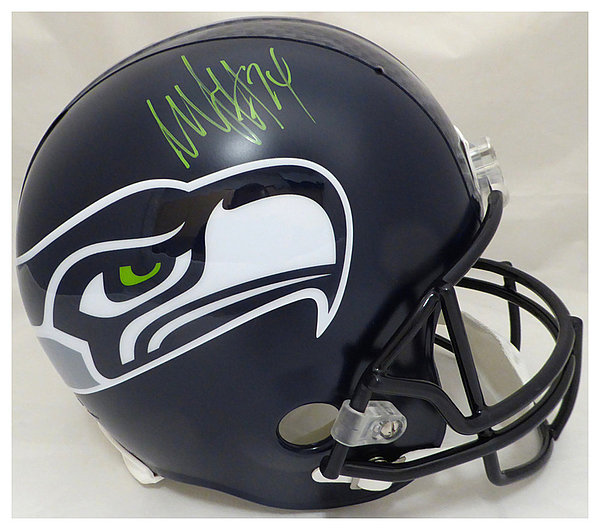 pretty nice 5ae4a 72535 Marshawn Lynch Autographed Signed Seattle Seahawks Full Size ...