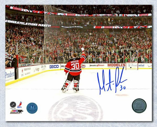 c35bc2846 Martin Brodeur New Jersey Devils Autographed Signed Win Record Celebration  8x10 Photo - Certified Authentic