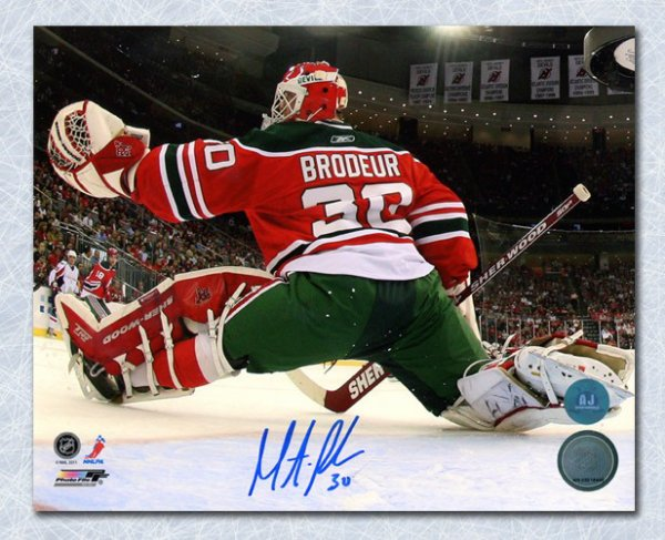 Detroit Redwings VS Vancouver Canucks Martin_broduer_new_jersey_devils_autographed_signed_signature_retro_jersey_net_cam_8x10_photo_coa_included_p297630