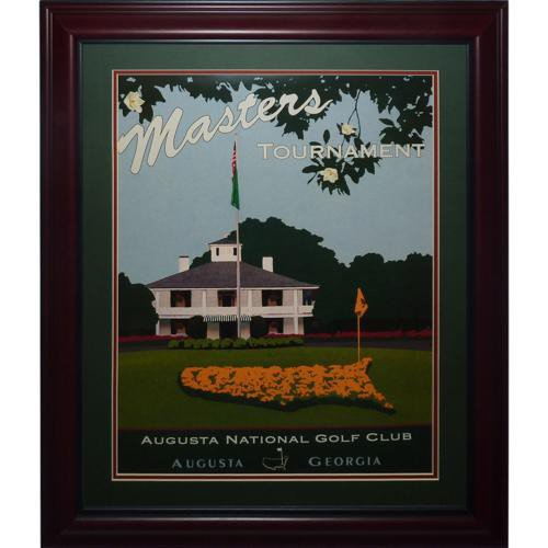 Masters Golf Tournament Deluxe Framed Clubhouse Poster