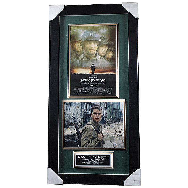 Matt Damon Autographed Signed 'Saving Private Ryan' Framed Photo Shadowbox PSA/DNA Authentic