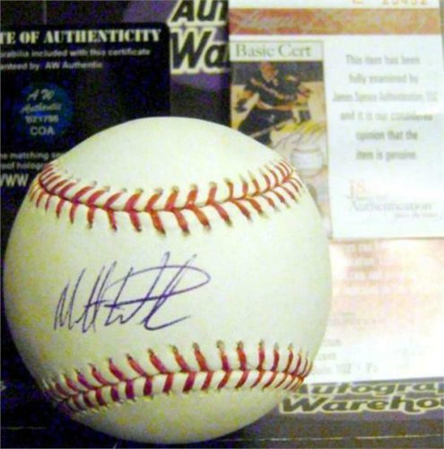 Matt Wieters Autographed Signed Baseball Georgia Tech Yellow Jackets JSA Authentication