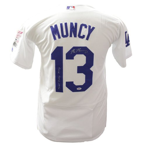 a2472abf9c4 Max Muncy Los Angeles Dodgers Autographed Signed 2018 Home Run Derby  Edition Jersey  That Funky