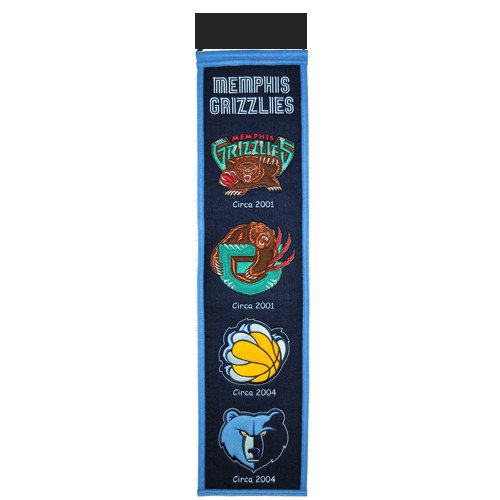 Memphis Grizzlies Logo Evolution Heritage Banner