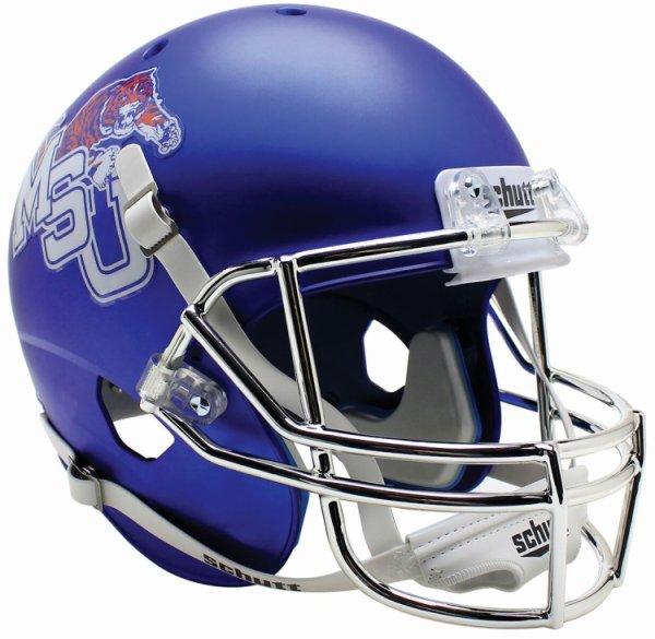 Memphis Tigers Full XP Replica Football Helmet Schutt Satin Blue