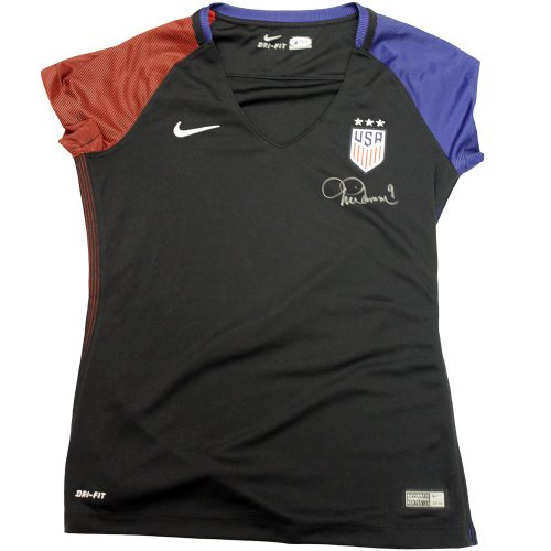 d6f612ee4 Mia Hamm USA Soccer Autographed Signed Black USA Soccer Jersey - Beckett  Authentic