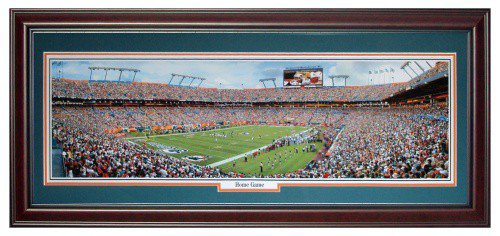 Miami Dolphins (Home Game) Deluxe Framed Panoramic Photo