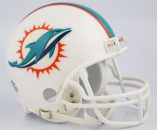 Miami Dolphins NFL Mini Football Helmet NEW 2018
