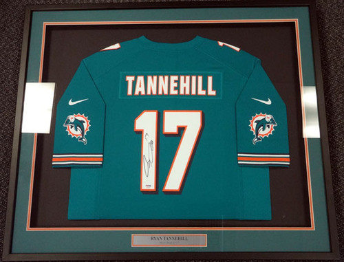Miami Dolphins Ryan Tannehill Autographed Signed Framed Teal Nike Jersey - PSA/DNA Certified