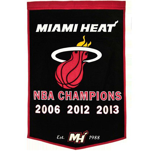 Miami Heat NBA Finals Championship Dynasty Banner - with hanging rod