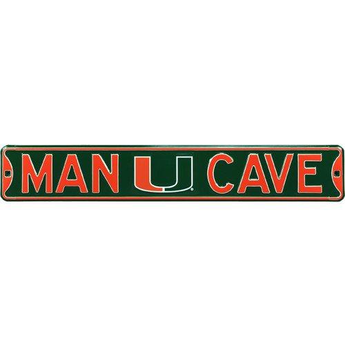 Miami Hurricanes MAN CAVE Authentic Street Sign