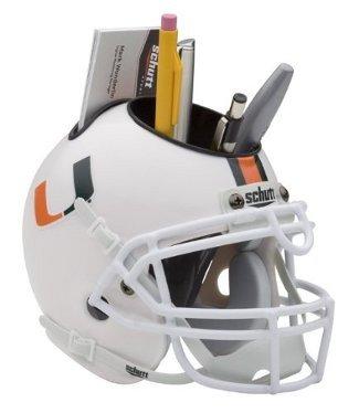 Miami Hurricanes NCAA Football Schutt Mini Helmet Desk Caddy