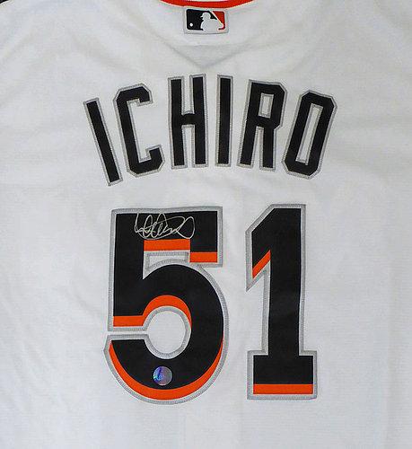 0470b4b1787 Miami Marlins Ichiro Suzuki Autographed Signed Auto White Majestic Cool  Base Jersey Size XL IS Holo