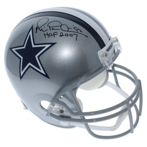 5b9fb35df64 Michael Irvin Dallas Cowboys Autographed Signed Riddell Full Size Replica  Helmet - HOF 07 Inscription -