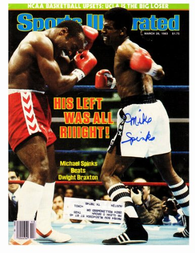 Michael (Mike) Spinks Autographed Signed Sports Illustrated 'His Left Was All Riiight!' March 28, 1983 Original Magazine