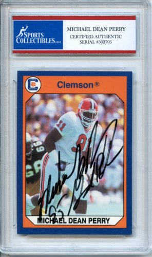 0a0cd86b68d Michael Perry 1990 Collegiate Collection Clemson Tigers Autographed Signed  Trading Card - Certified Authentic