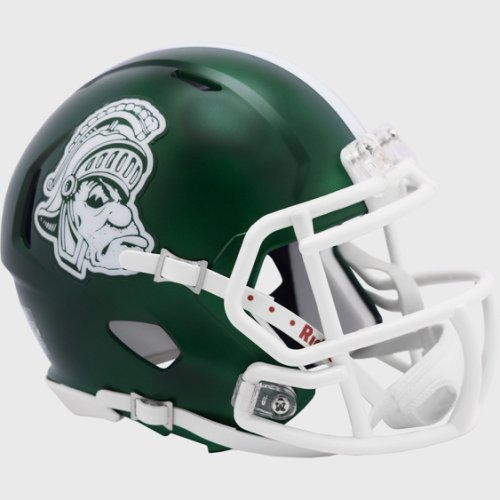 Michigan State Spartans NCAA Mini Speed Football Helmet Gruff Sparty