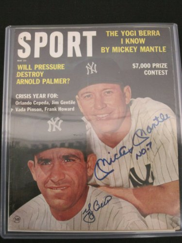 Mickey Manlte Autographed Signed / Yogi Berra Auto May 1963 Sport Magazine JSA Full Letter