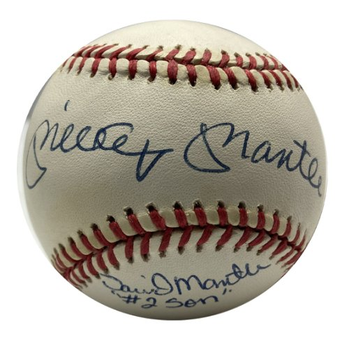 Mickey Mantle and David Mantle #2 Son Autographed Signed Baseball - JSA Certified - Autographed Signed Baseballs