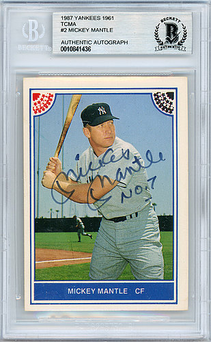 c9200004a89 Mickey Mantle Autographed Signed 1987 TCMA Card  2 New York Yankees No. 7 -