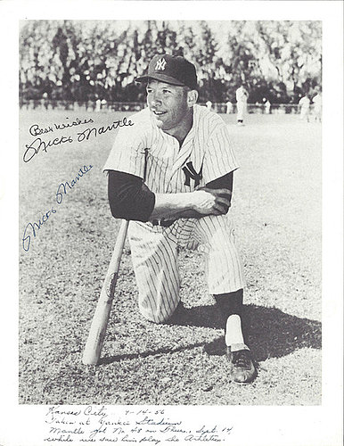 Mickey Mantle Autographed Signed 8x10 Photo New York Yankees Vintage Signature Autographed Signed in 1956 - PSA/DNA Certified
