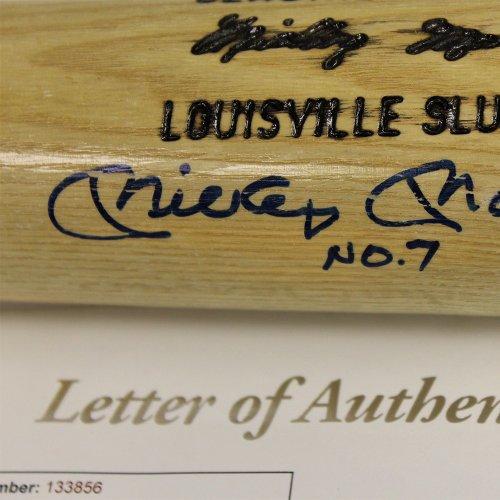 Mickey Mantle Autographed Signed Blonde Baseball Bat- JSA Authentic