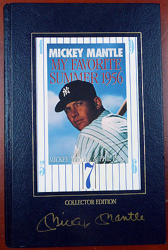Mickey Mantle Autographed Signed Book New York Yankees - Beckett Certified