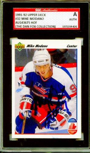 Mike Modano 1991 92 Upper Deck Team USA Autographed Signed Trading Card