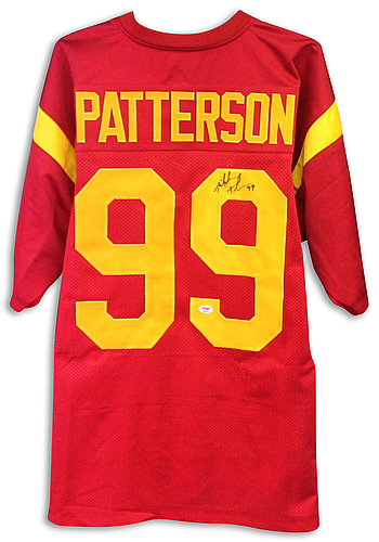 6a5cadc9cae Mike Patterson USC Trojans Autographed Signed Red Jersey - Certified  Authentic - Certified Authentic