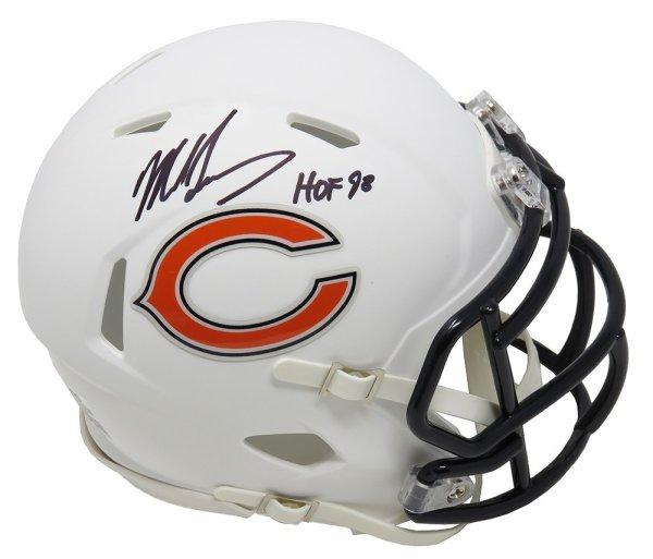 Mike Singletary Autographed Signed Chicago Bears Flat White Matte Speed Mini Helmet w/HOF'98