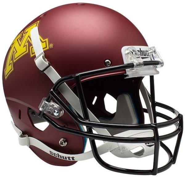 Minnesota Golden Gophers Full XP Replica Football Helmet Schutt Matte