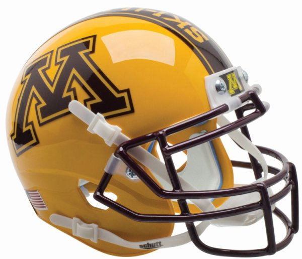 Minnesota Golden Gophers Mini XP Authentic Helmet Schutt Gold