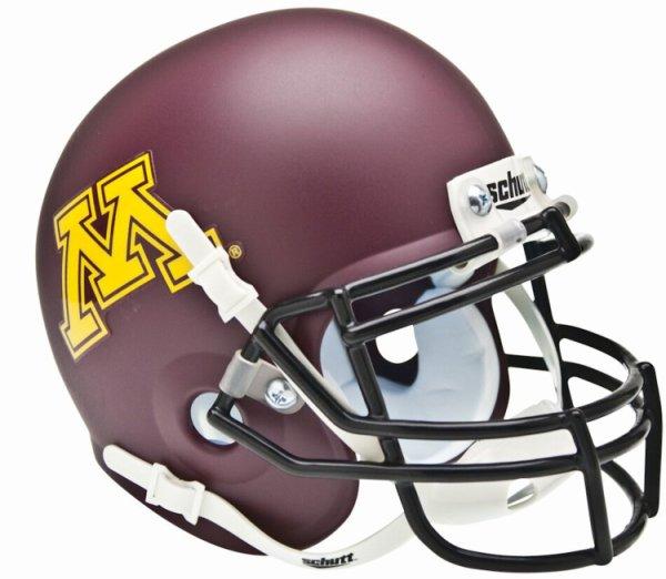 Minnesota Golden Gophers Mini XP Authentic Helmet Schutt Matte
