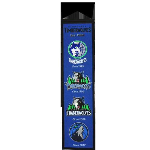 Minnesota Timberwolves Logo Evolution Heritage Banner