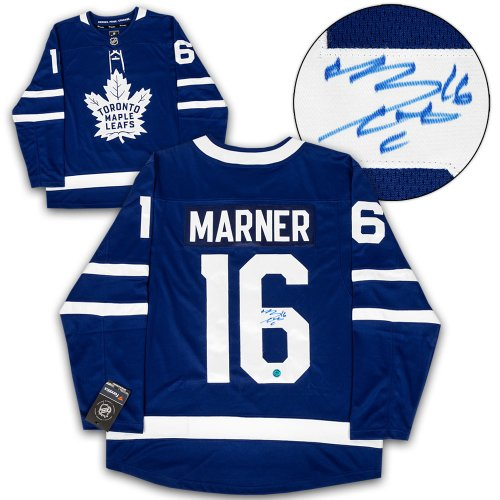2a621017977 Mitch Marner Toronto Maple Leafs Autographed Signed Blue Fanatics Hockey  Jersey - Certified Authentic