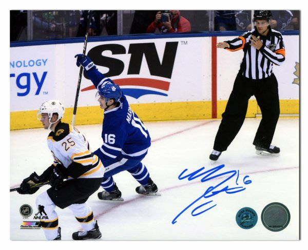 563849acb Mitch Marner Toronto Maple Leafs Autographed Signed First NHL Goal 11x14  Photo - Certified Authentic