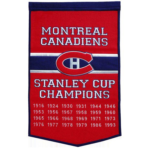 Montreal Canadiens Stanley Cup Championship Dynasty Banner - with hanging rod