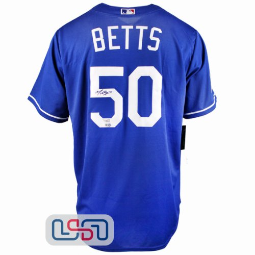 Mookie Betts Autographed Signed Autographed Blue 2020 Ws Dodgers Nike Jersey Fanatics Auth