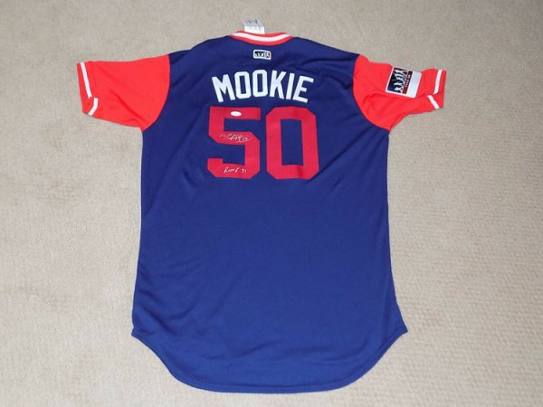 Mookie Betts Autographed Signed Majestic Player's Weekend Baseball Jersey Boston Red Sox JSA