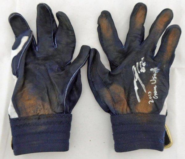 Munenori Kawasaki Autographed Signed Game Used Asics Batting Gloves 2013 Game Used Toronto Blue Jays PSA/DNA U93470