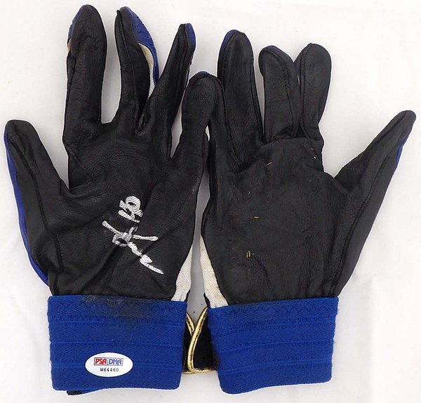 Munenori Kawasaki Autographed Signed Memorabilia Game Issued Asics Batting Gloves Toronto Blue Jays - PSA/DNA Authentic