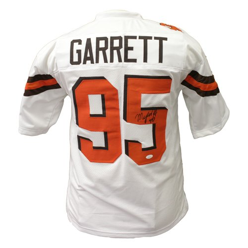 online store fa41a 76bf2 Myles Garrett Cleveland Browns Autographed Signed White ...